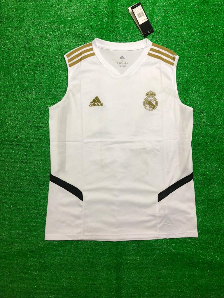 Real Madrid White Sleeveless Jersey [Sale Item]