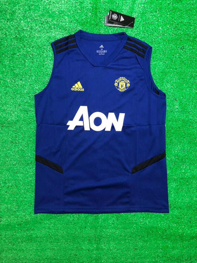 Manchester United Blue Sleeveless Jersey [Sale Item]