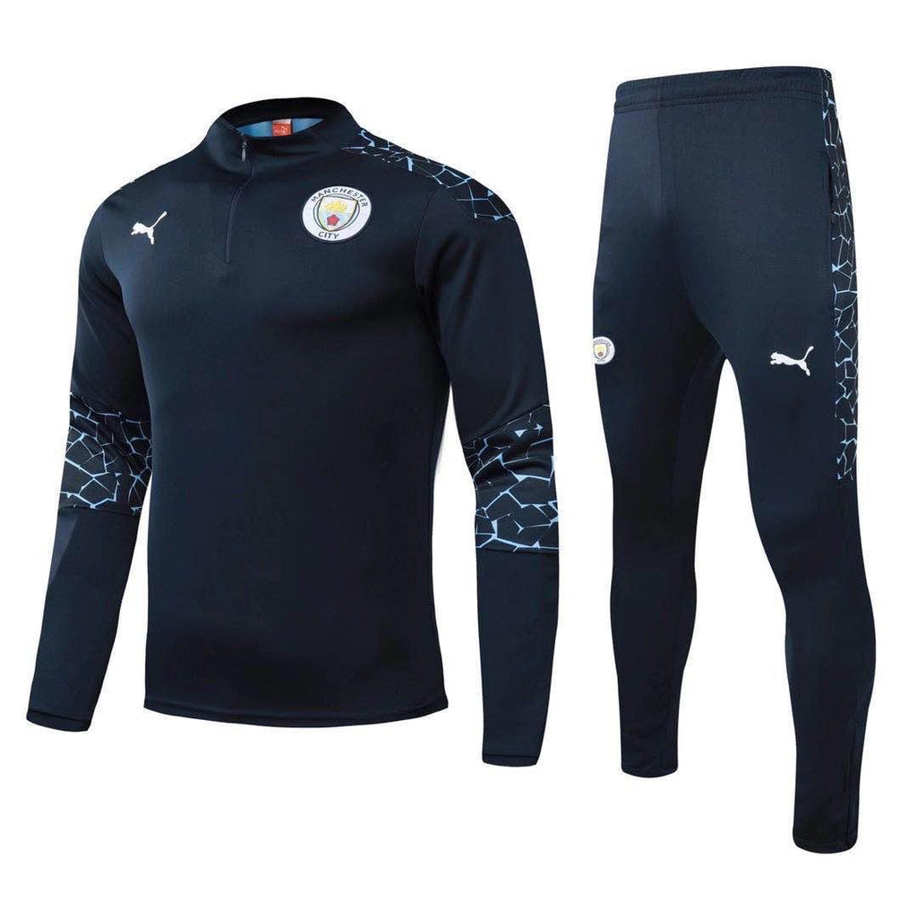 Manchester City Black Training Suit 20 21 Season
