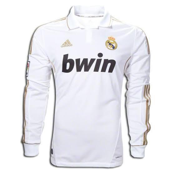 Real Madrid 2011-12 Home FULL SLEEVE Retro Jersey