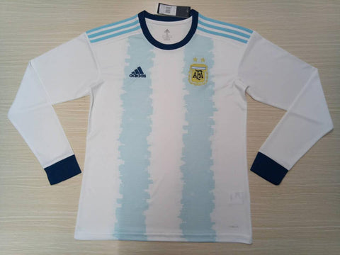 Argentina National Team Copa America Home FULL SLEEVE Jersey [Sale Item]