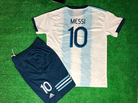 Argentina MESSI 10 Copa America KIDS Jersey + Free Shorts