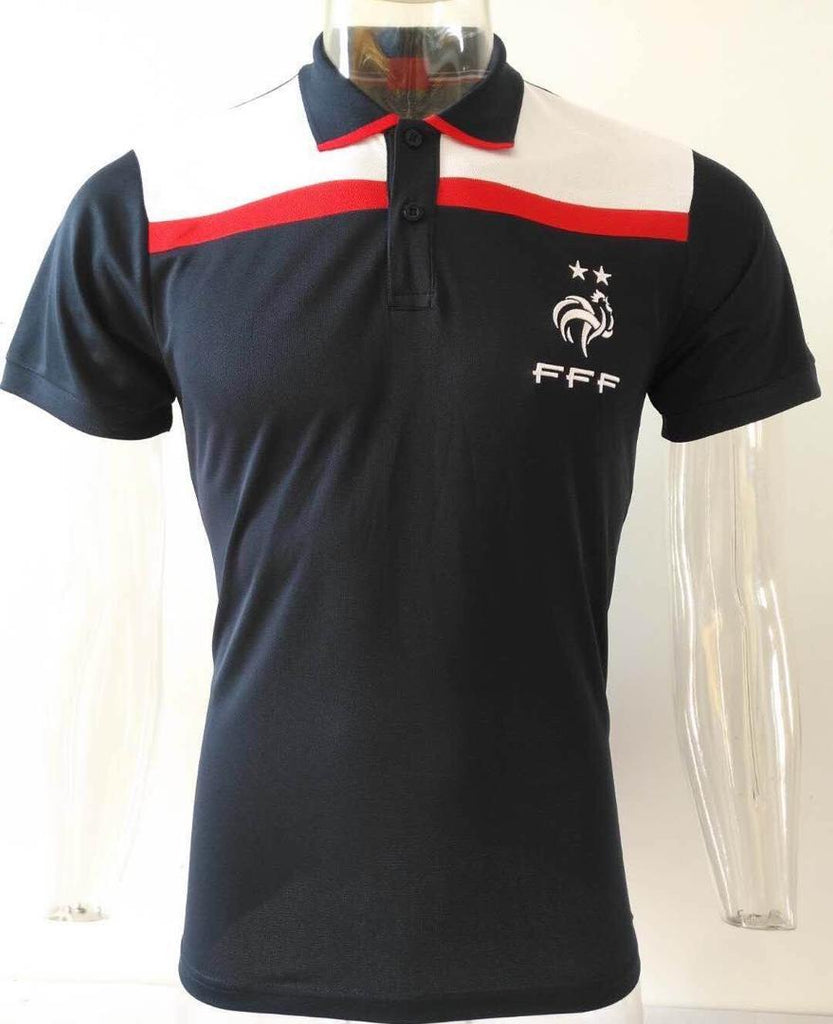 France Dark Blue Polo T-Shirt