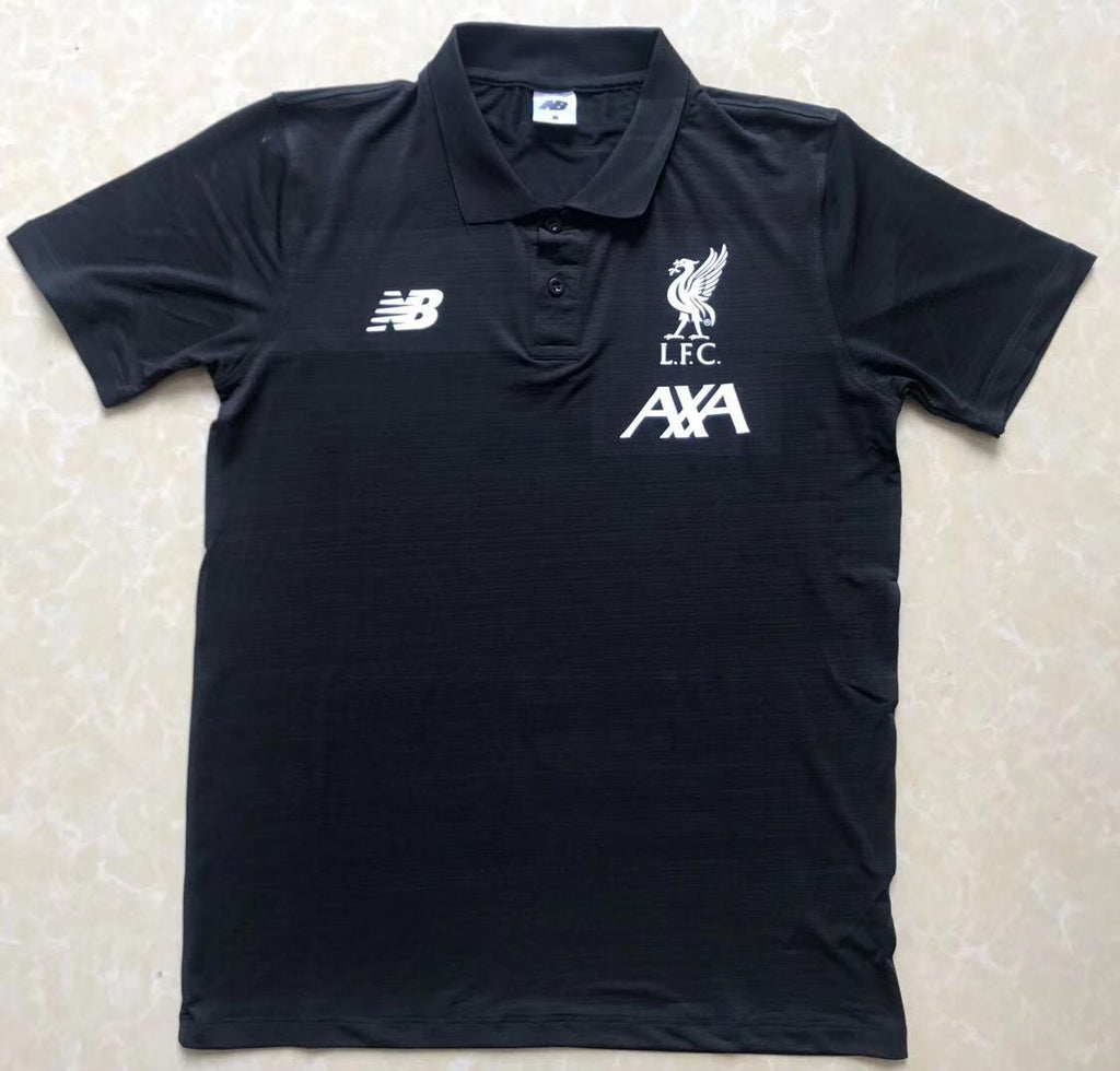 Liverpool Black Polo T-Shirt POLO sportifynow