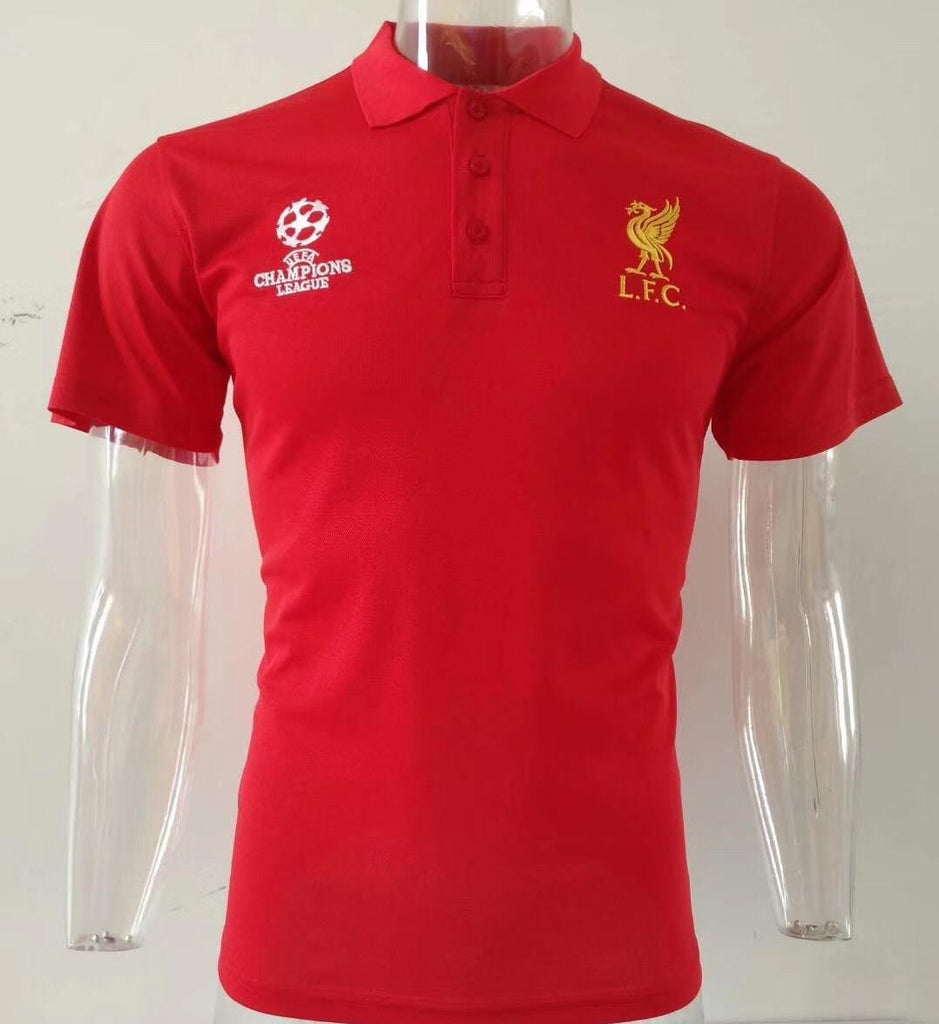 Liverpool Champions League Red Polo T-Shirt POLO sportifynow