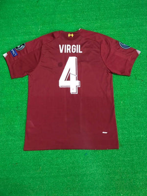 Liverpool VIRGIL 4 Football Jersey Home With UCL Patch 19 20 Season [Sale Item] Jersey_NS sportifynow