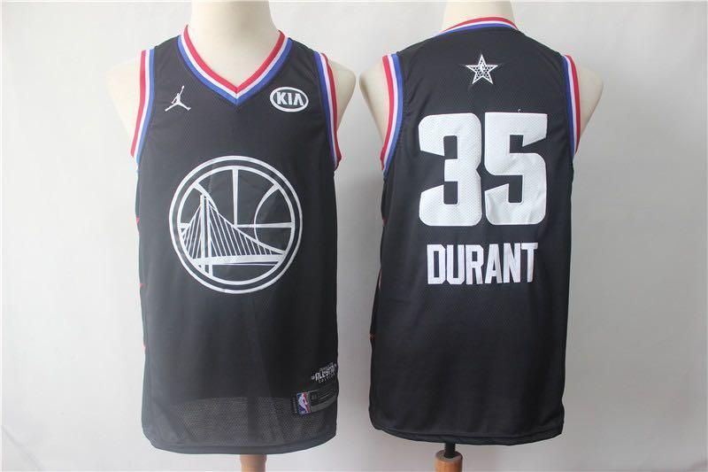 Golden State Warriors Kevin Durant All Star Game Navy Blue NBA Jersey Jersey_NBA sportifynow