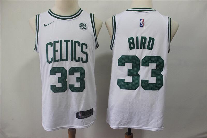 Boston Celtics Larry Bird White NBA Jersey