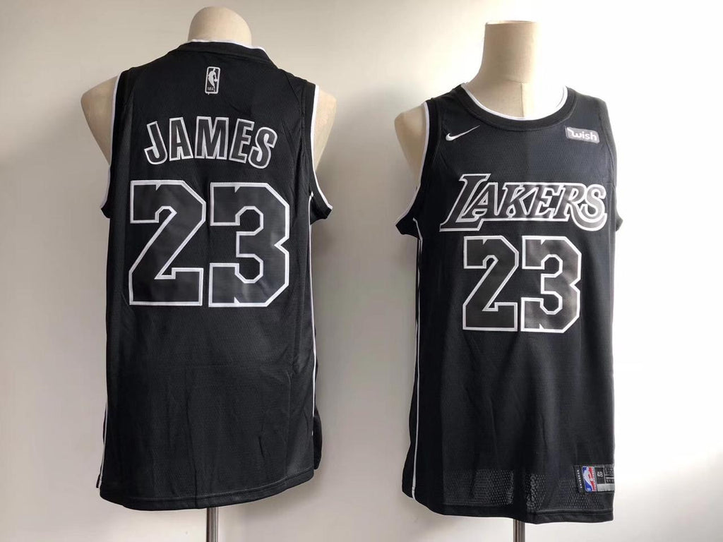 Los Angeles Lakers LeBron James 23 Black NBA Jersey