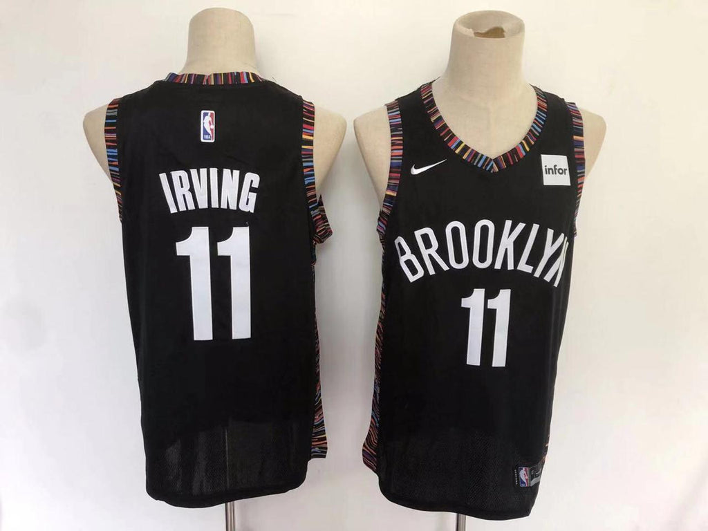 the latest c3bb5 65a5b Brooklyn Nets Kyrie Irving City Edition Black NBA Jersey ...