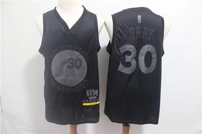 Golden State Warriors Stephen Curry Black MVP Honorary Edition NBA Jersey Jersey_NBA sportifynow