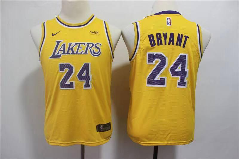Los Angeles Lakers Kobe Bryant Yellow NBA Jersey