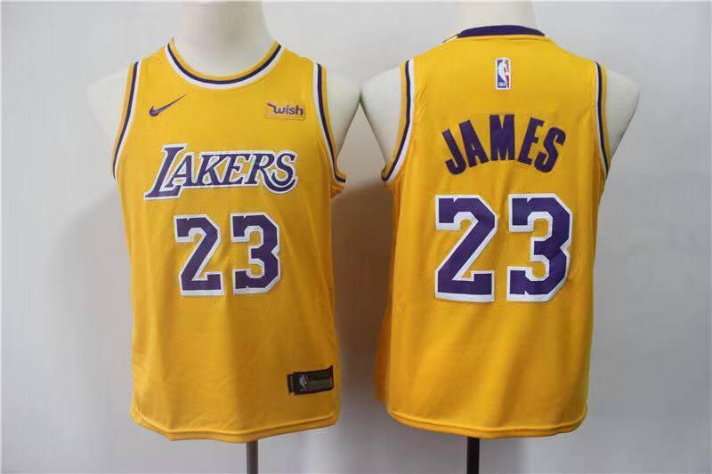 Los Angeles Lakers LeBron James 23 Yellow NBA Jersey Jersey_NBA sportifynow