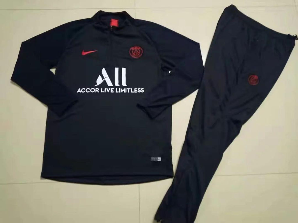 PSG Jordan Black Training Suit 19 20 Season Training Suit sportifynow