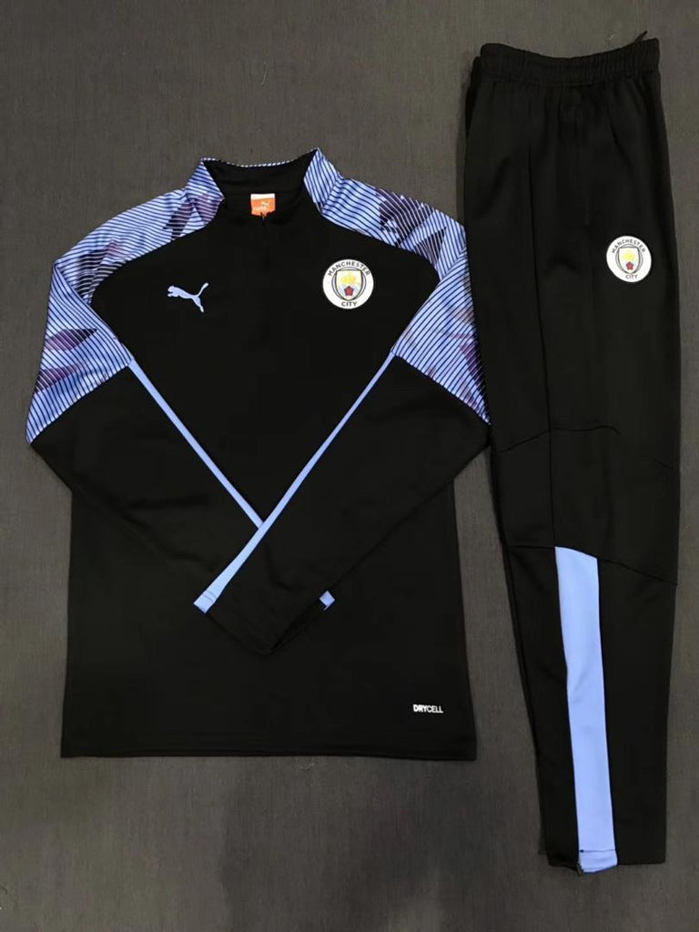 Manchester City Black Training Suit 19 20 Season Training Suit sportifynow