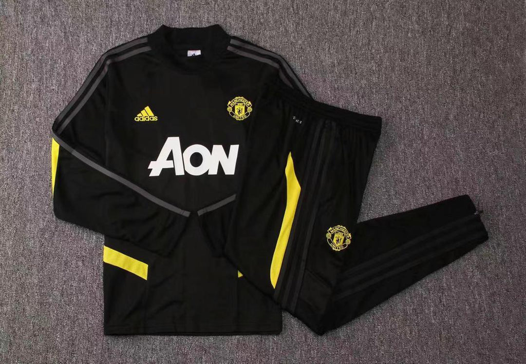 Manchester United Black Training Suit 19 20 Season Training Suit sportifynow