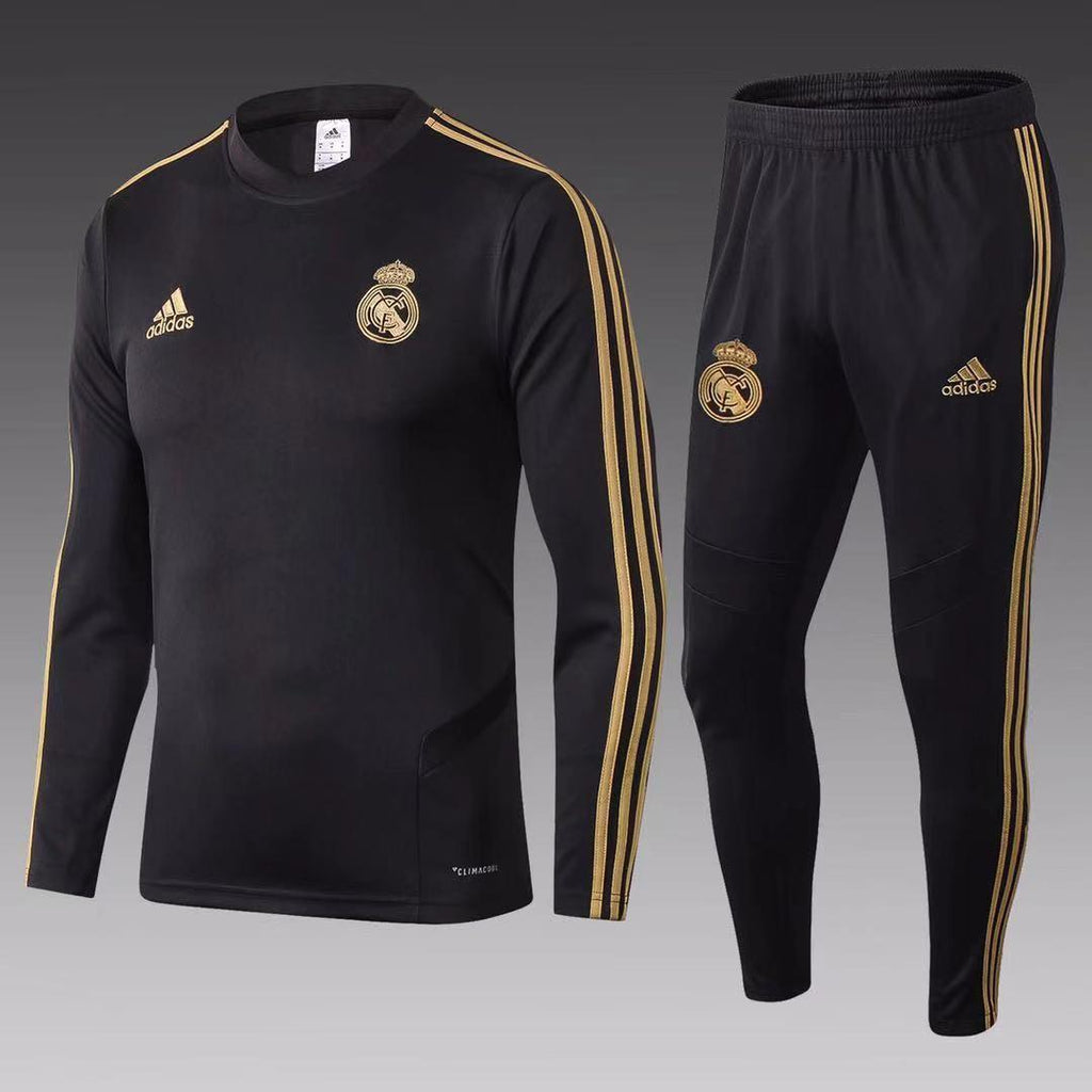 Real Madrid Black Training Suit 19 20 Season Training Suit sportifynow