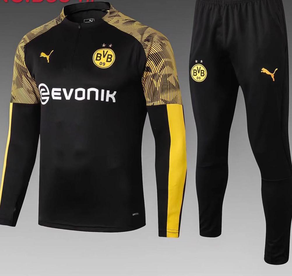 Borussia Dortmund Black Training Suit 19 20 Season Training Suit sportifynow