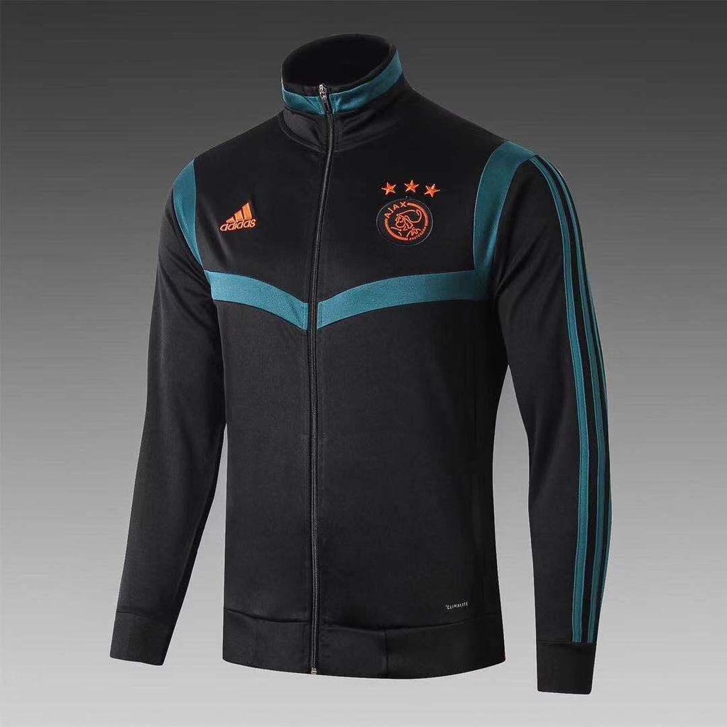 Ajax Black With Blue Hand Stripe Winter Jacket 19 20 Season