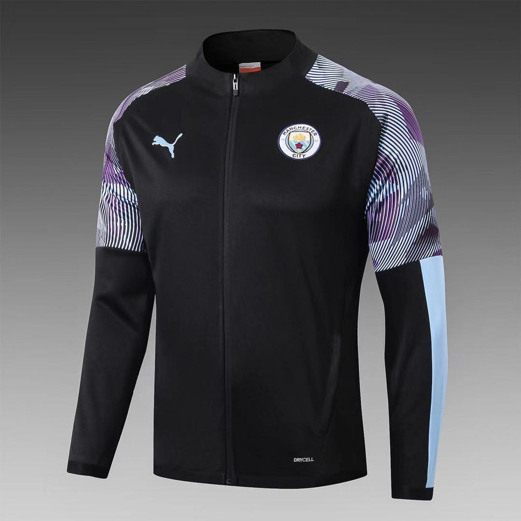 Manchester City Striped Black Jacket 19 20 Season[🔥CLEARANCE SALE🔥]