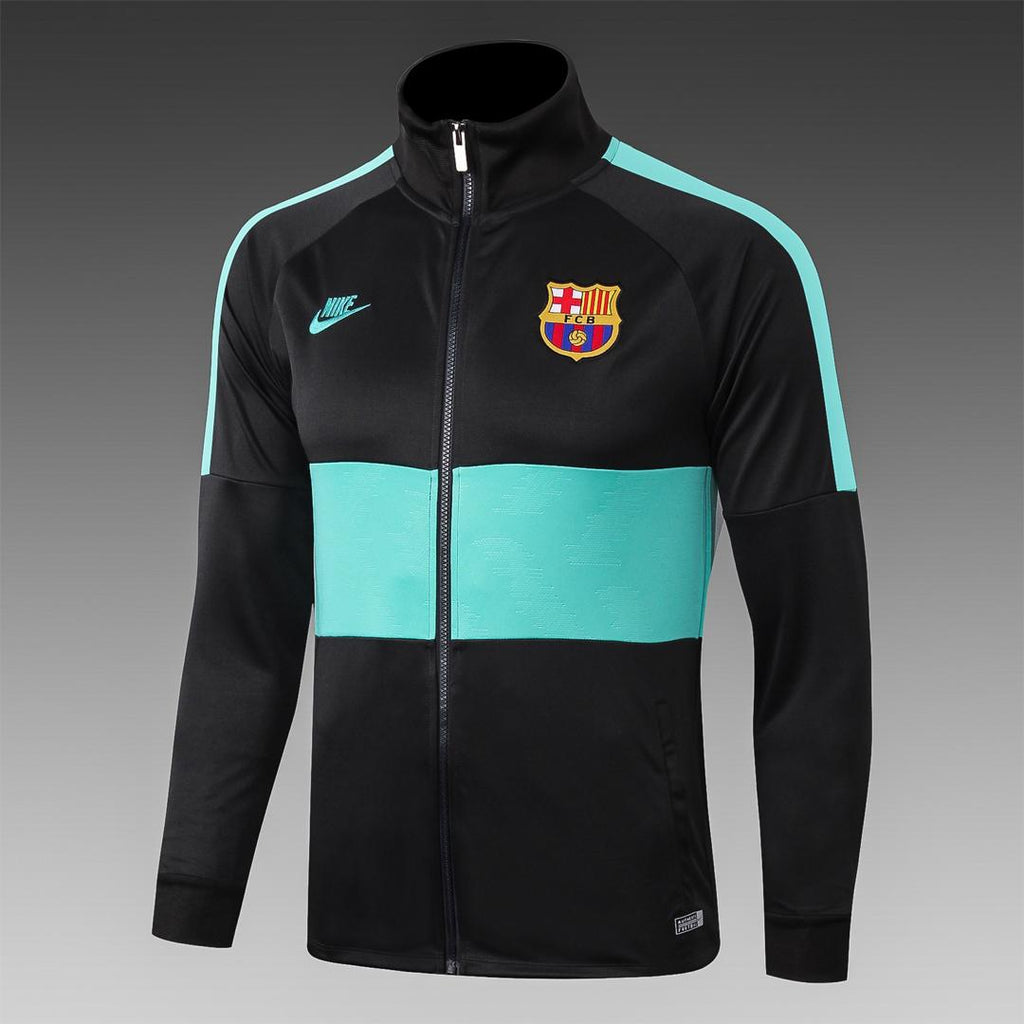 Barcelona Black and Sky Blue Winter Jacket 19 20 Season