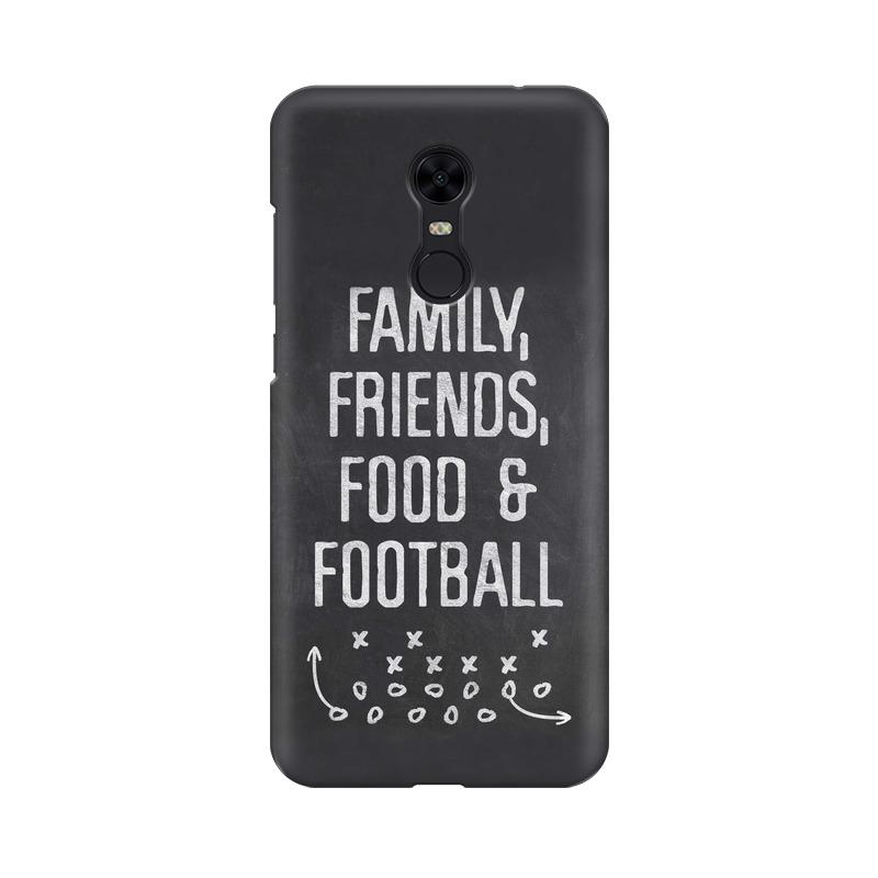 Family Friends Food Football Phone Case[Available For 90+ Phone Models] Phone Case printrove Xiaomi Redmi Note 5 Pro