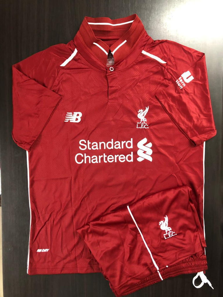 Liverpool KIDS Football Jersey Home 18 19 Season+Free Shorts Jersey_NS sportifynow