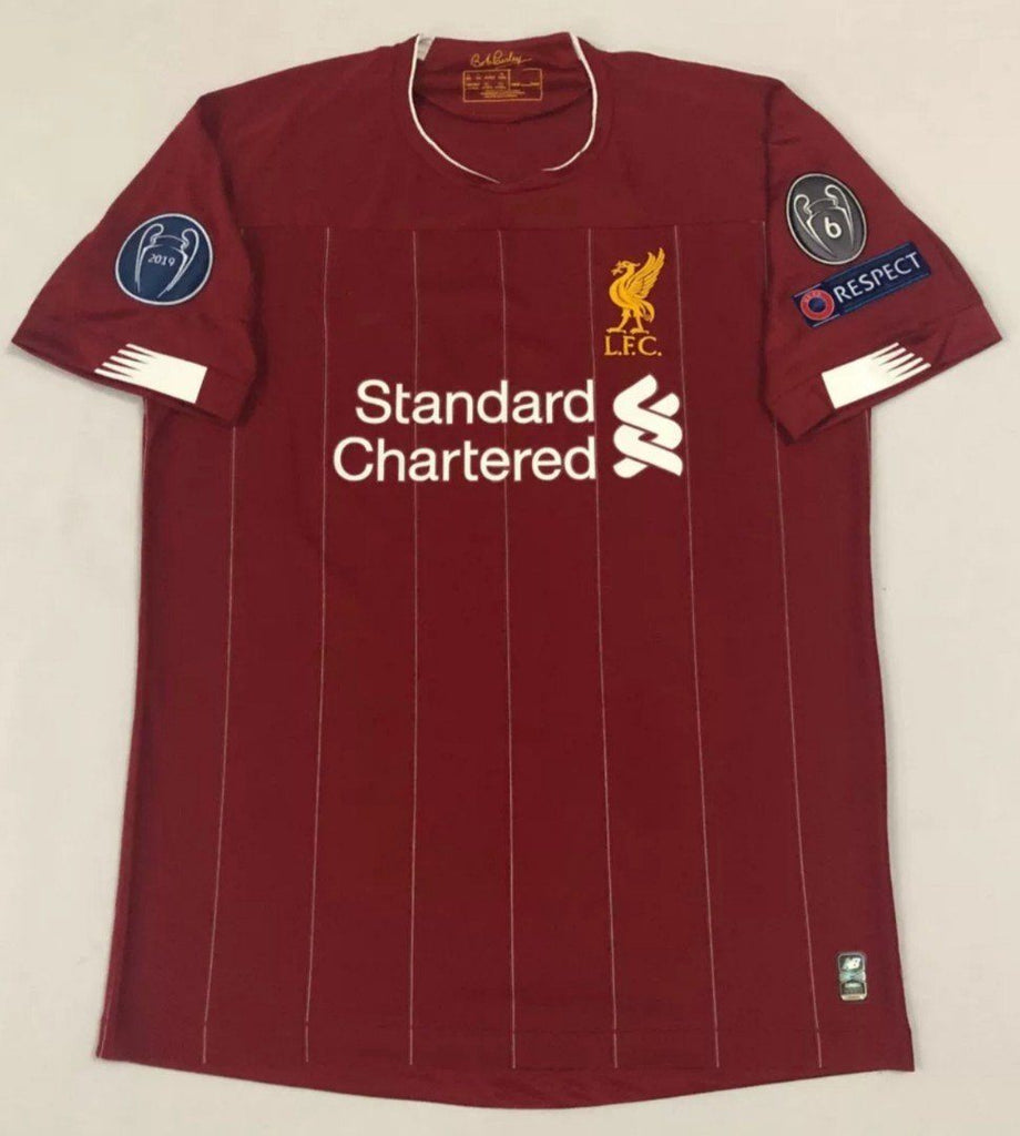 Liverpool CHAMPIONS OF EUROPE Football Jersey Home With UCL Patch 19 20 Season [Sale Item]