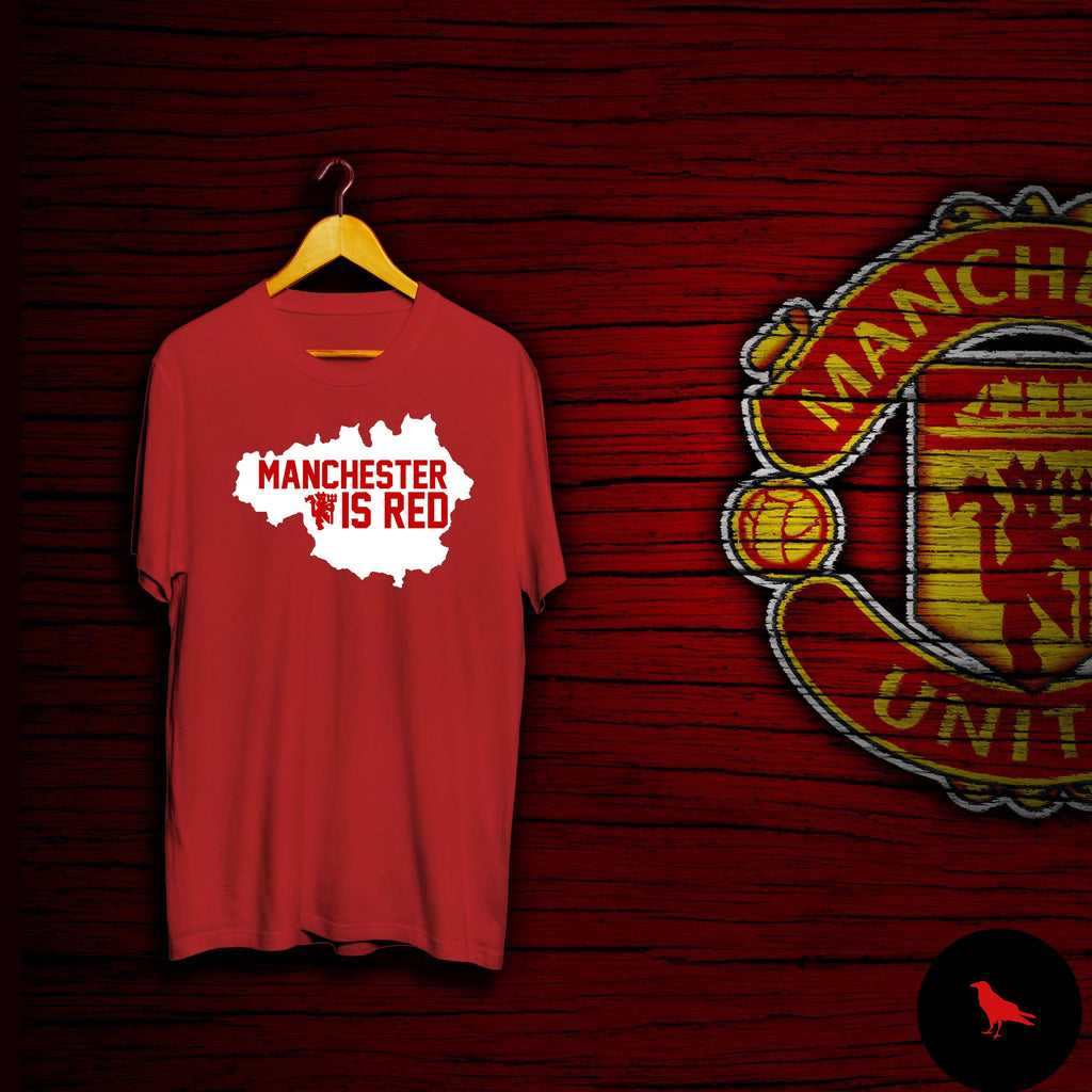 Manchester Is Red Football T Shirt