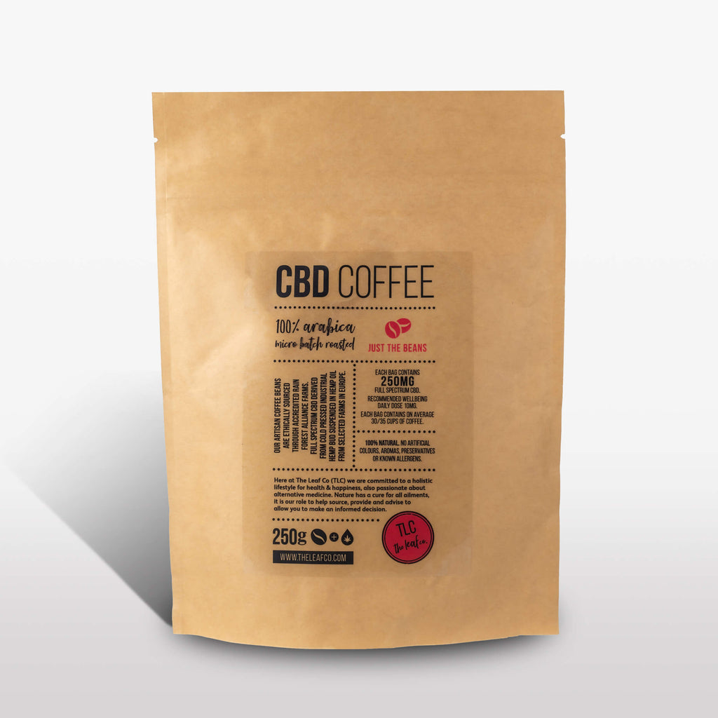 <strong>CBD Coffee</strong><br>100% Arabica CBD Coffee, available as beans or ground