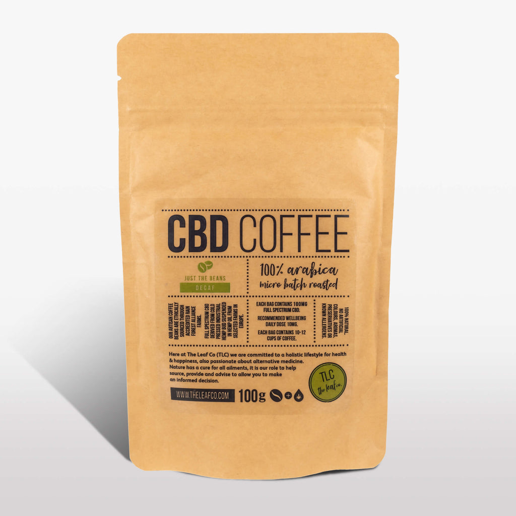 CBD DECAF Coffee - Just the Beans, 100g bag