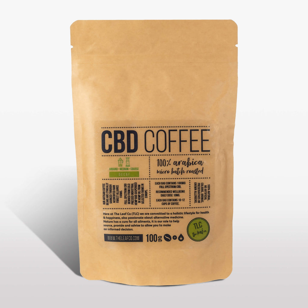 CBD DECAF Coffee - Medium Ground, 100g bag
