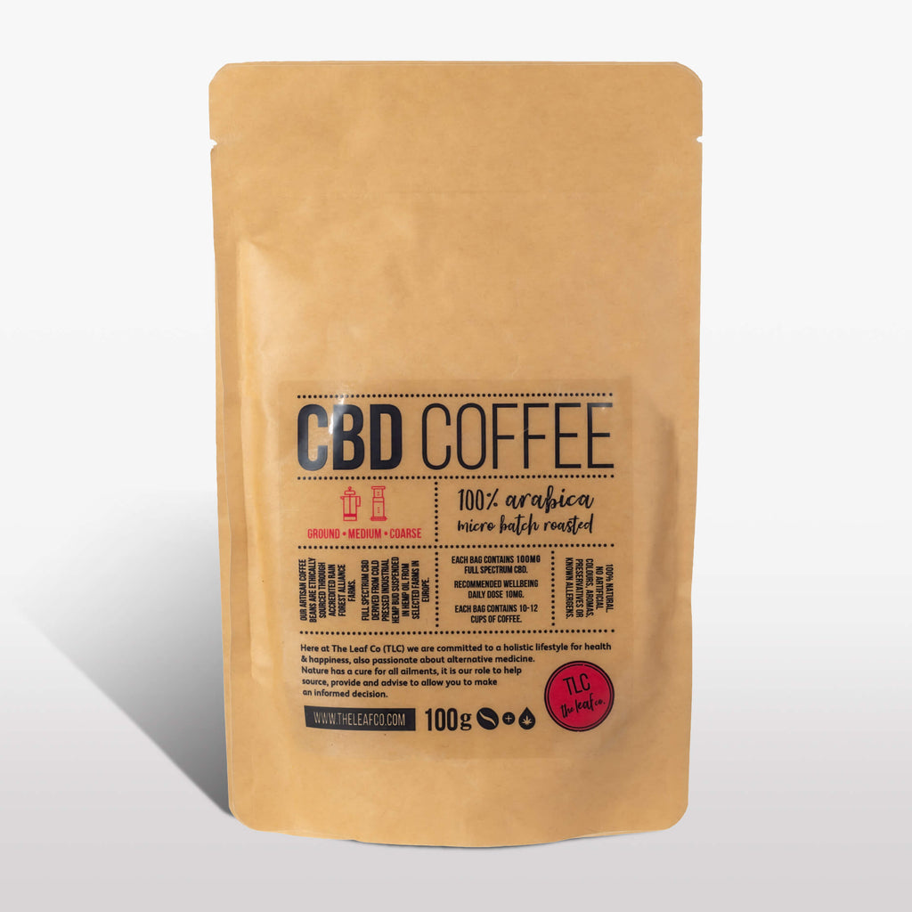 CBD Coffee - Medium Ground, 100g bag