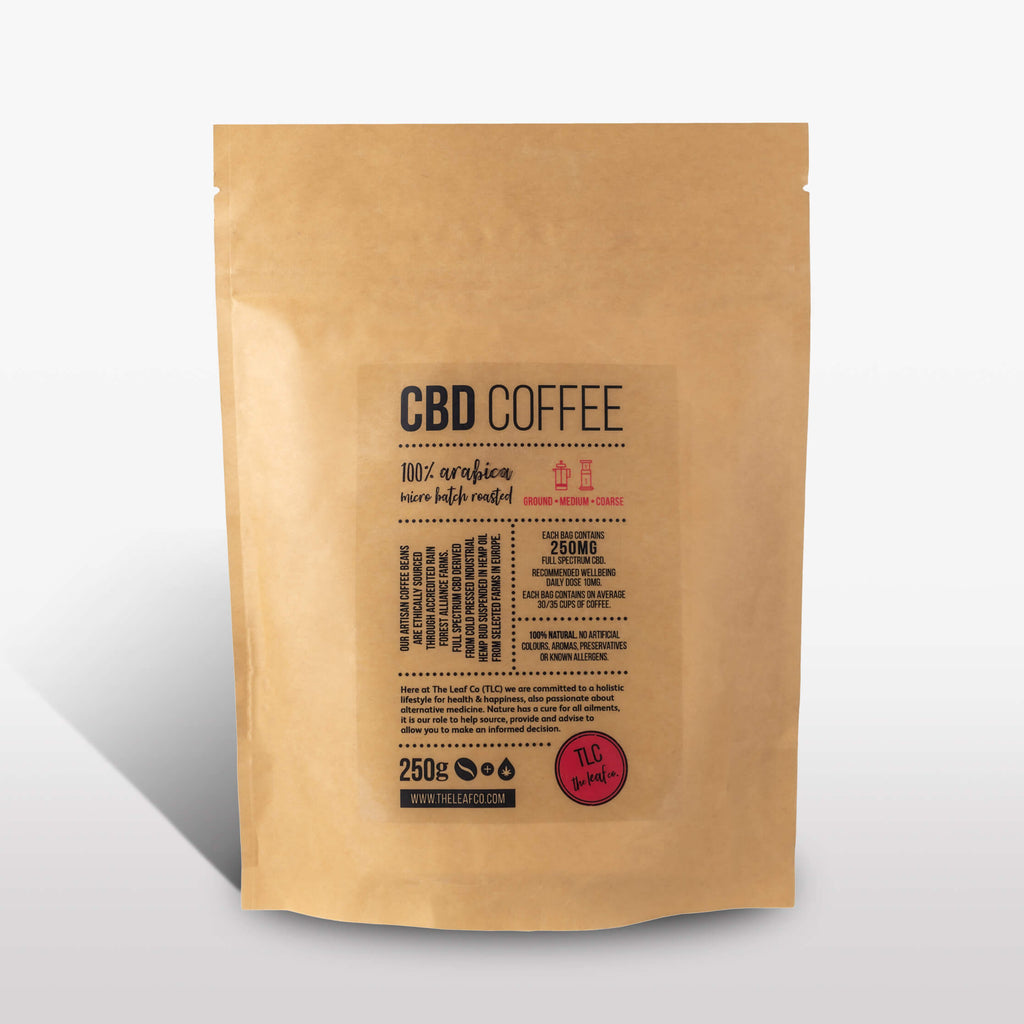 CBD Coffee - Medium Ground, 250g bag