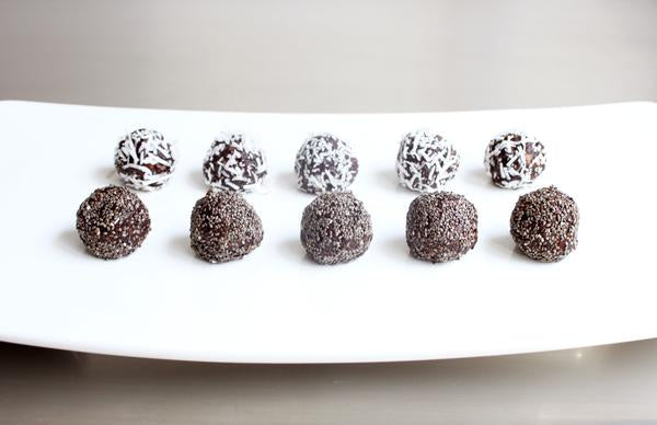 "The first recipe post, ""nutella"" bliss balls"