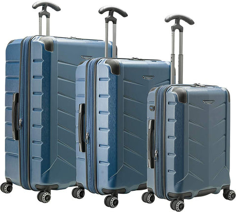 Traveler's Choice Silverwood II Polycarbonate Expandable 3-Piece Luggage Set