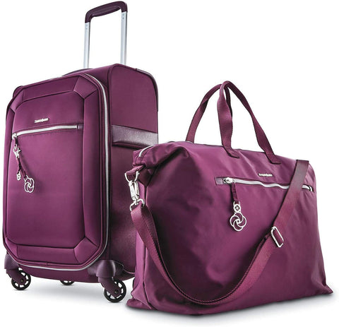 Samsonite Magnifique Journee 2-Piece Softside Luggage Set~Color: Raisin