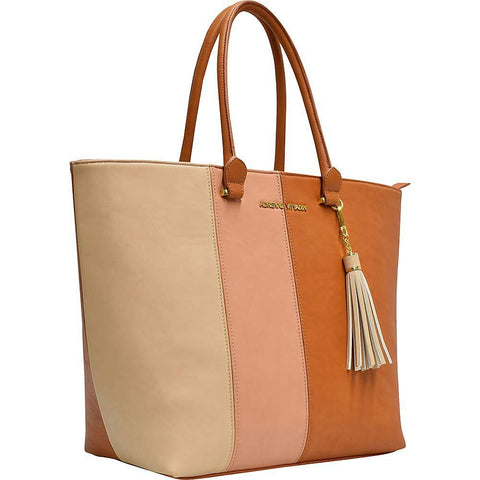 ADRIENNE VITTADINI-Adrienne Vittadini Color Block Workbook Laptop Tote with Fashion Tassel-bags-packs.com