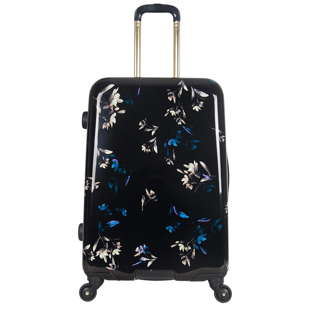 Aimee Kestenberg-Aimee Kestenberg Women's Midnight Floral Hardside Expandable 4-Wheel Spinner Checked Luggage, Dark-bags-packs.com