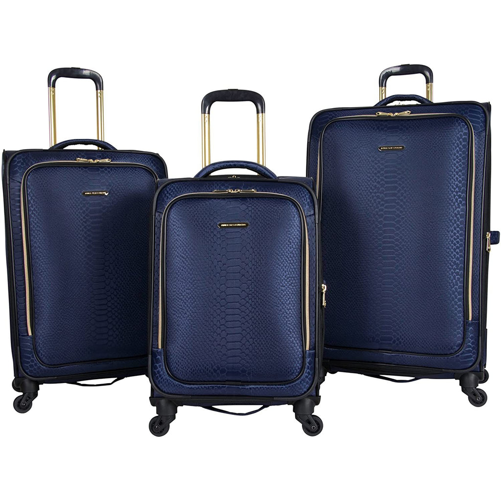 "Aimee Kestenberg-Aimee Kestenberg Women's Parker Jacquard Polyester Expandable 4-Wheel 3-Piece Luggage Set; 20"" Carry-on,-bags-packs.com"