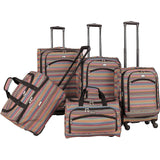 American Flyer-American Flyer Gold Coast 5-Piece Spinner Luggage Set-bags-packs.com