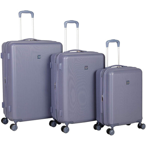 American Flyer-American Flyer Kova 3 Piece Expandable Hardside Spinner Luggage Set (Navy)-bags-packs.com