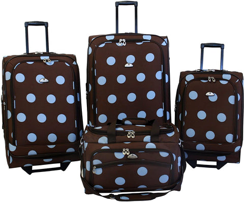 American Flyer-American Flyer Luggage Grande Dots 4 Piece Set-bags-packs.com