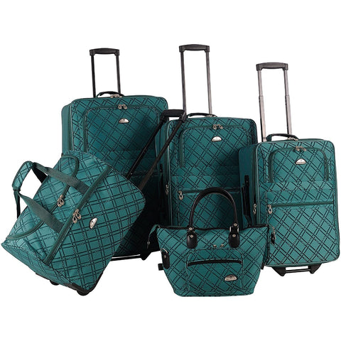 American Flyer-American Flyer Luggage Pemberly Buckles 5 Piece Set-bags-packs.com