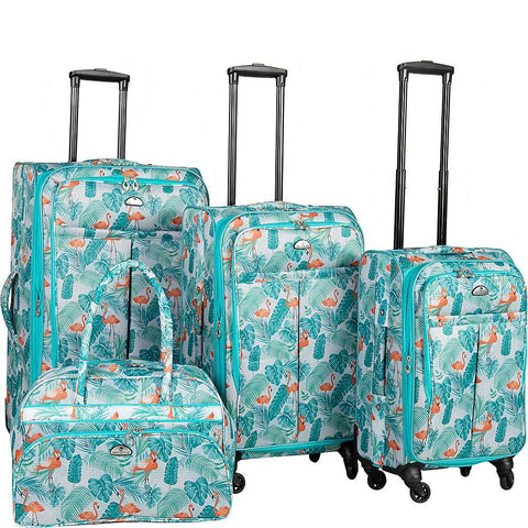 American Flyer-American Flyer Urma 4 Piece Luggage Set (Multi)-bags-packs.com