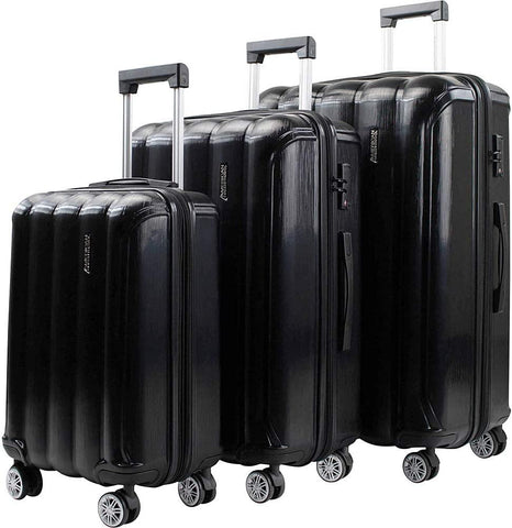 American Green Travel-American Green Travel Aura 3-Piece Hardside TSA Expandable Spinner Luggage Set-bags-packs.com