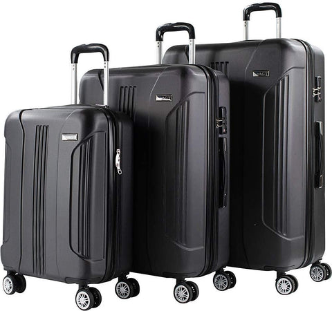 American Green Travel-American Green Travel Denali 3 Piece Expandable Hardside Spinner Luggage Set-bags-packs.com