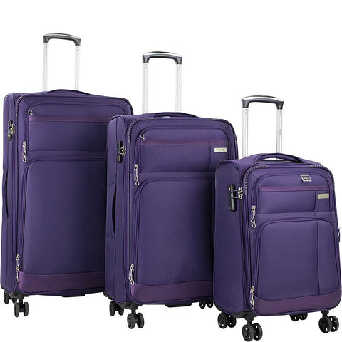 American Green Travel-American Green Travel Hamilton 3 Piece Expandable Spinner Luggage Set-bags-packs.com