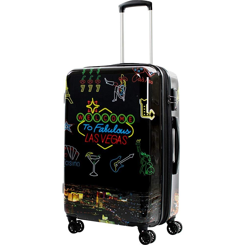 "American Green Travel-American Green Travel Las Vegas 24"" Expandable Hardside Checked Spinner Luggage-bags-packs.com"