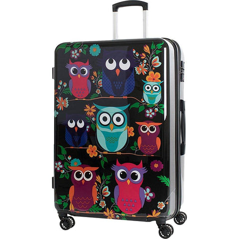 "American Green Travel-American Green Travel Owls 24"" Expandable Hardside Checked Spinner Luggage-bags-packs.com"